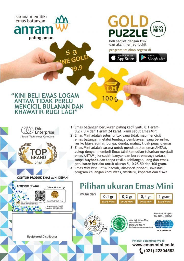 Brosur Gold Puzzle Emas Mini